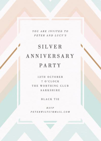 Chevron | Personalised Anniversary Invitation