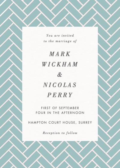 Brickwork | Personalised Wedding Invitation