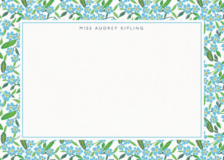 Forget-Me-Not | Personalised Stationery Set
