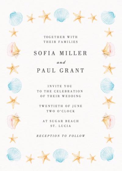Saint Lucia | Personalised Wedding Invitation