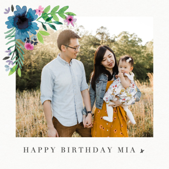 Midsummer Photo | Personalised Birthday Card