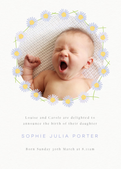 Daisy Chain | Personalised Birth Announcement