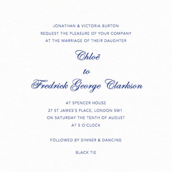 Classic | Personalised Wedding Invitation