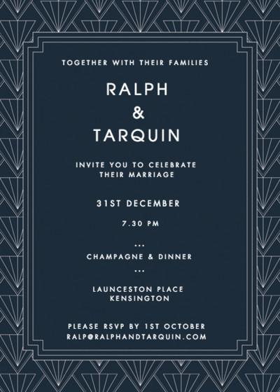 Gatsby | Personalised Wedding Invitation