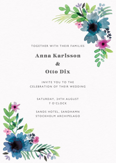 Midsummer | Personalised Wedding Invitation