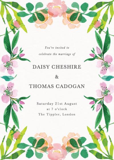 Spring Roses | Personalised Wedding Invitation