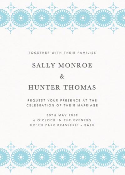 Sanibel   Personalised Wedding Invitation
