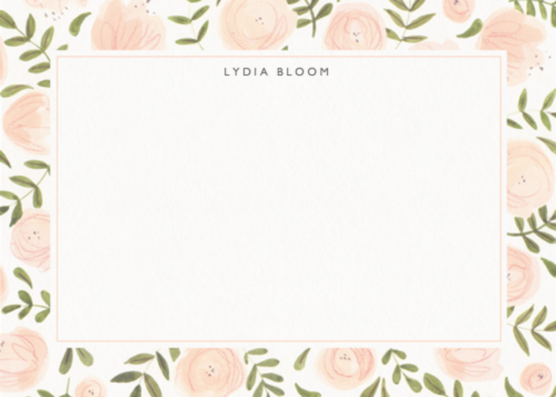 Blush Florals   Personalised Stationery Set