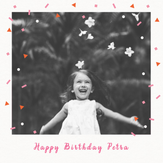 Falling Red Confetti | Personalised Birthday Card