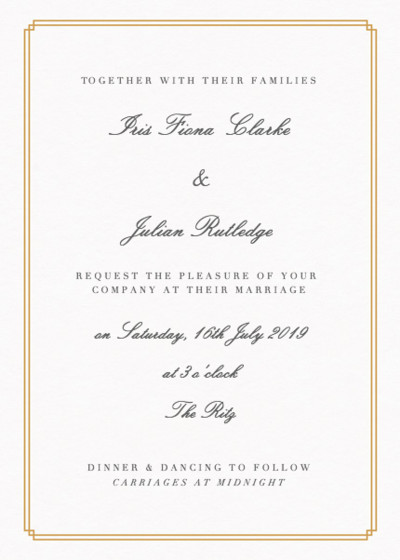 Double Frame | Personalised Wedding Invitation