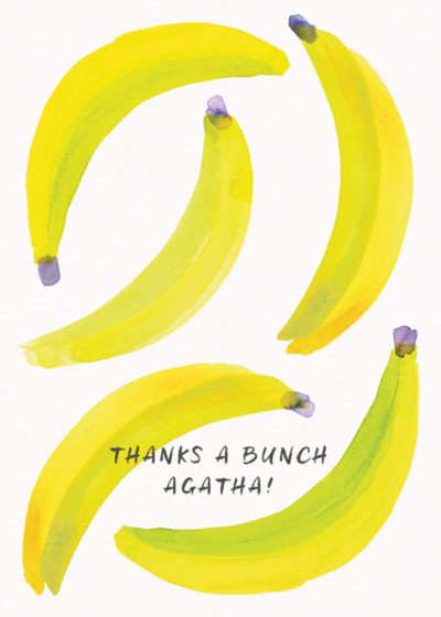 Bananas | Personalised Greeting Card