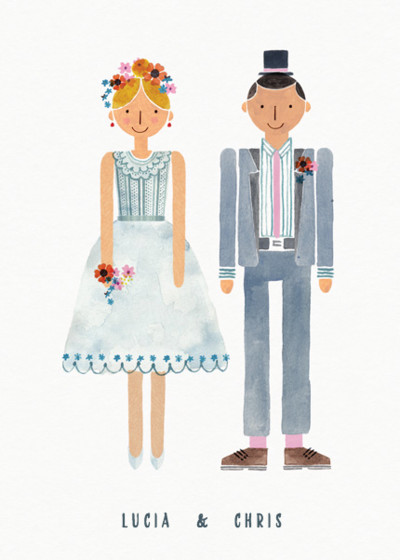 Wedding Couple | Personalised Congratulations Card