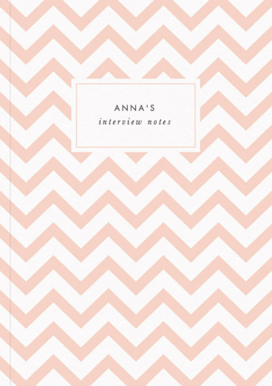 Peach Chevrons | Personalised Lined Notebook