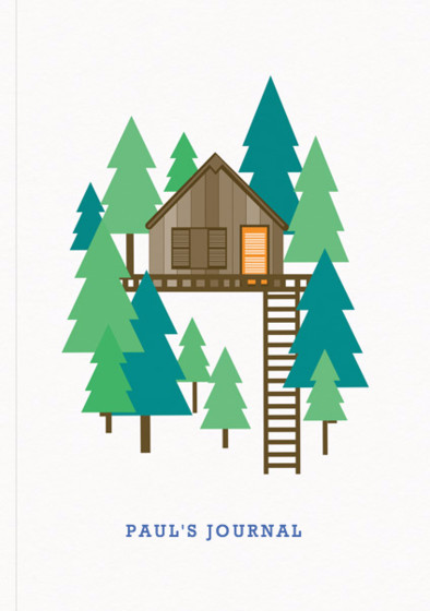 Treehouse | Personalised Lined Notebook