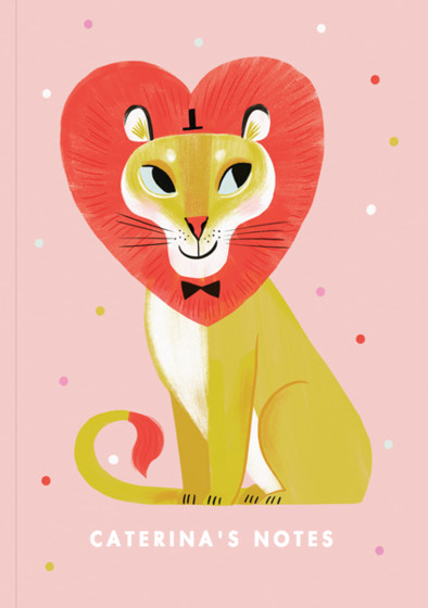 Lion Love | Personalised Lined Notebook