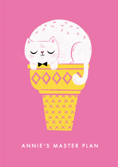 Ice Cream Cat | Personalised Lined Notebook