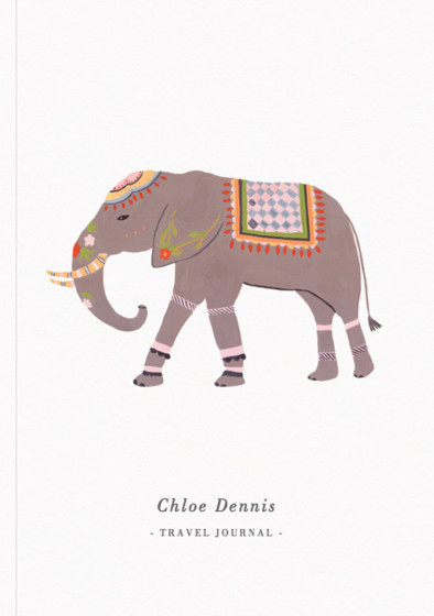 Eastern Elephant | Personalised Lined Notebook