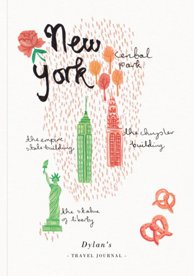 New York | Personalised Lined Notebook
