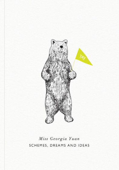 Bear | Personalised Lined Notebook