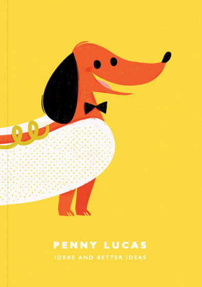 Happy Hot Dog | Personalised Lined Notebook