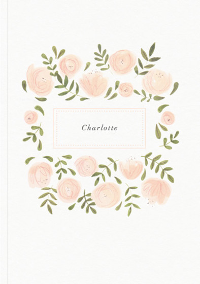 Blush Florals | Personalised Lined Notebook