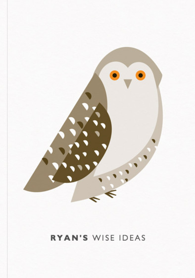 Snowy Owl | Personalised Lined Notebook