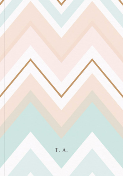 Chevron Monogram | Personalised Lined Notebook
