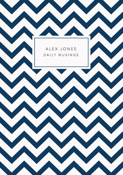 Navy Chevrons | Personalised Lined Notebook