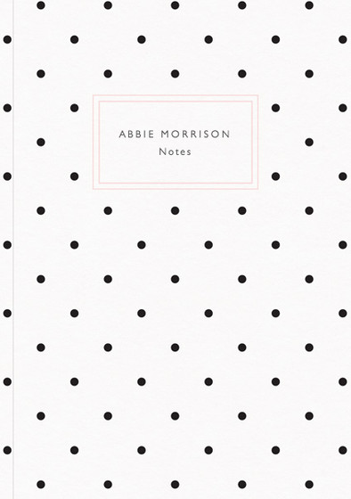 Polka Dots   Personalised Lined Notebook