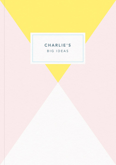 Yellow Diamond | Personalised Lined Notebook