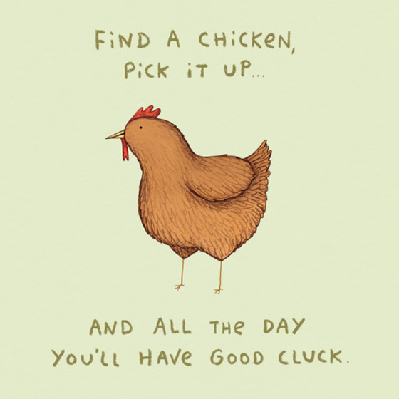 Good Cluck | Personalised Good Luck Card
