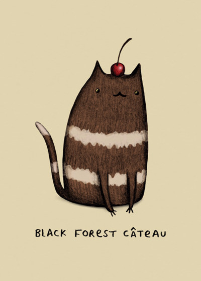 Black Forest Câteau | Personalised Greeting Card
