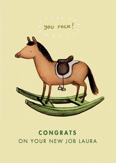 Rocking Horse | Personalised Greeting Card