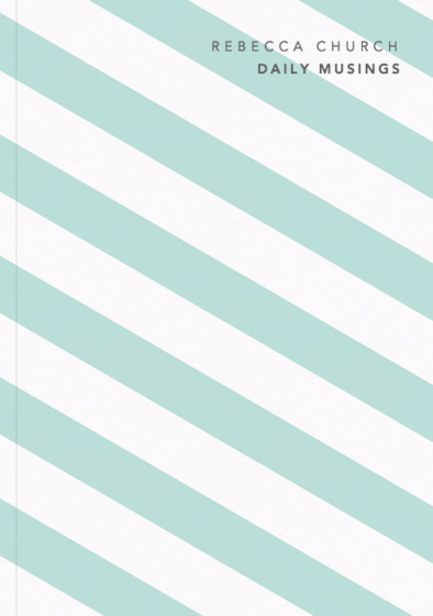 Mint Diagonal | Personalised Lined Notebook