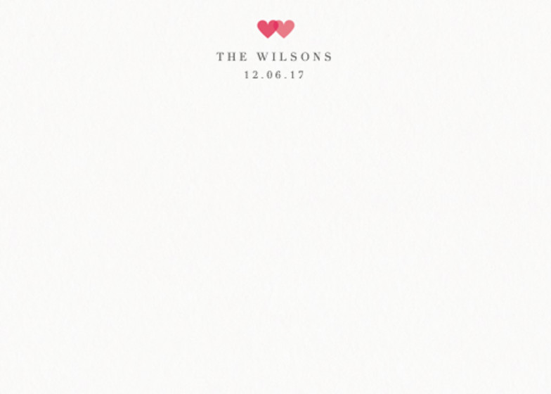 Two Hearts | Personalised Stationery Set