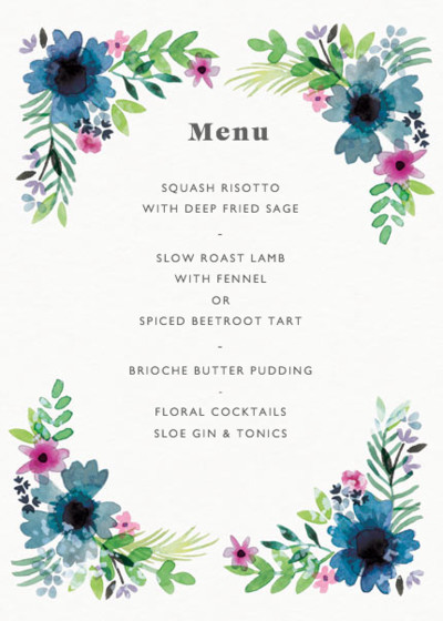 Midsummer | Personalised Menu