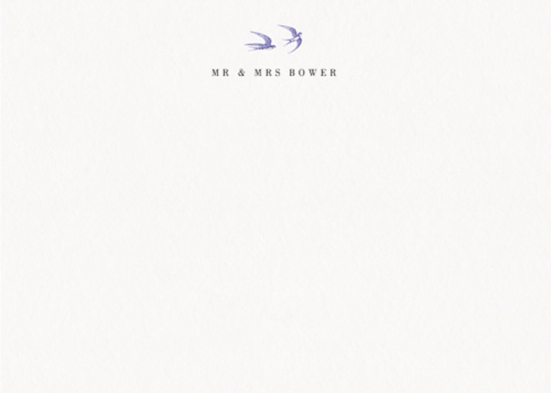 Swallows | Personalised Stationery Set