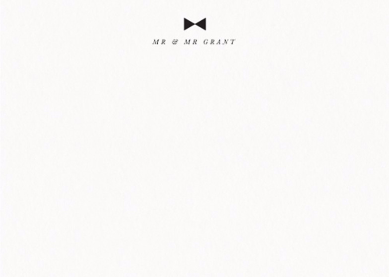 Bow Tie | Personalised Stationery Set