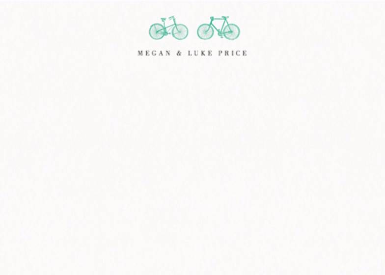 Ride For Two Vert | Personalised Stationery Set