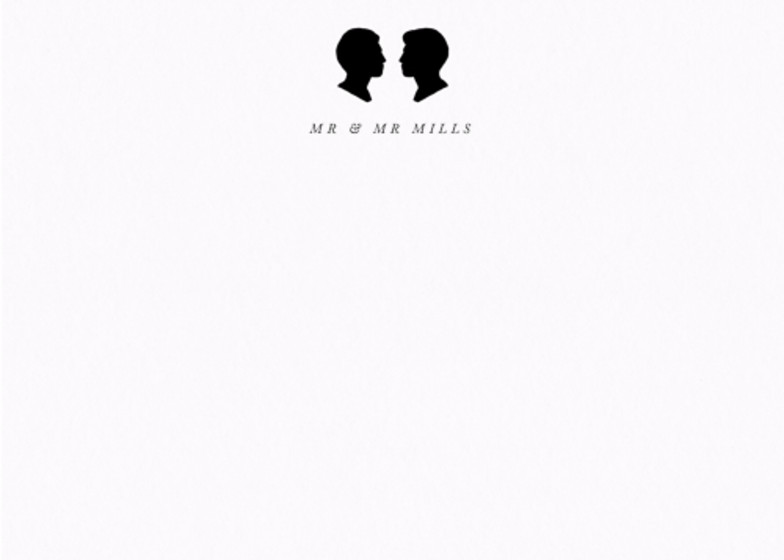 Silhouette Mr & Mr | Personalised Stationery Set
