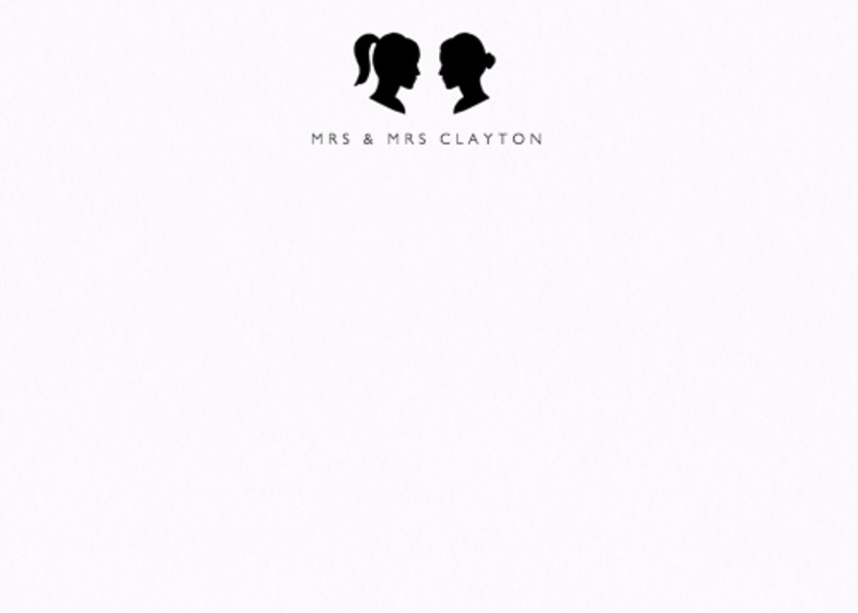 Silhouette Mrs & Mrs | Personalised Stationery Set