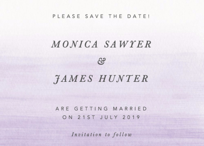 Orchid Ombré | Personalised Save The Date