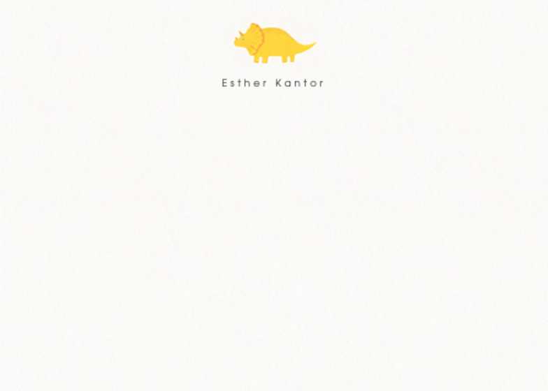 Triceratops   Personalised Stationery Set