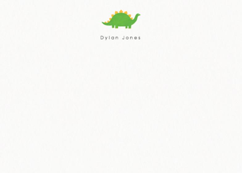 Stegosaurus | Personalised Stationery Set