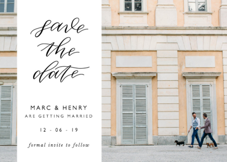 Calligrafia Band | Personalised Save The Date