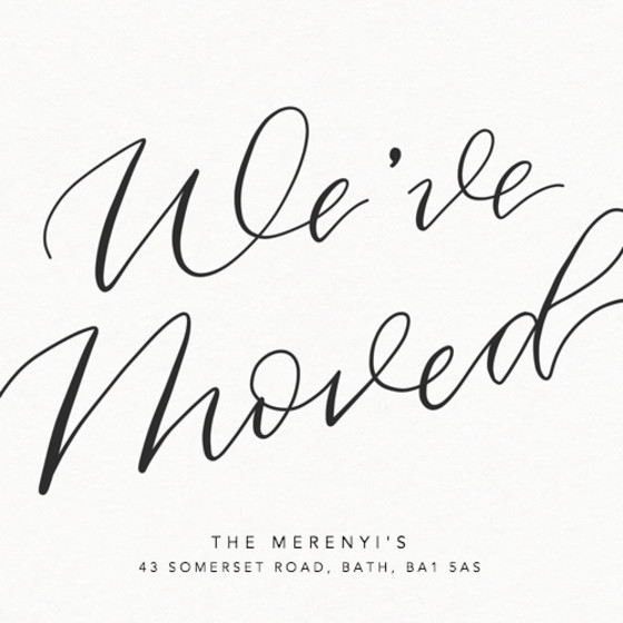 We've Moved | Personalised Moving Announcement
