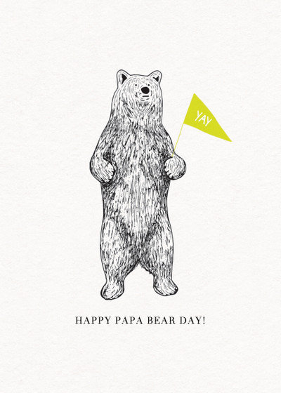 Bear | Personalised Father's Day Card