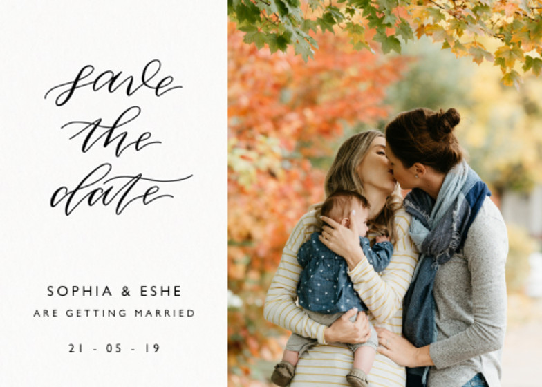 Save The Date Calligraphy | Personalised Save The Date