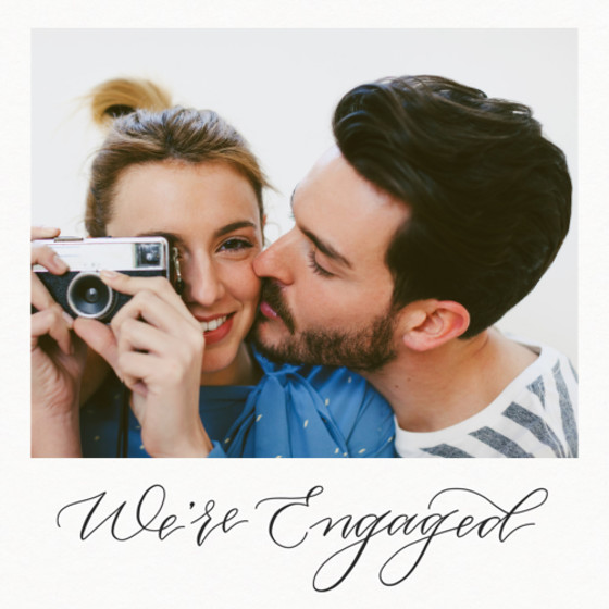 We're Engaged | Personalised Save The Date