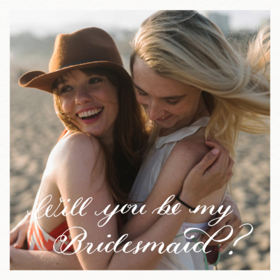 Be My Bridesmaid? | Personalised Greeting Card